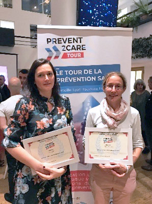 Audrey BEL (CIU Santé) et Marion MATHIEU (Tous Chercheurs), lauréates du Prevent2Care Tour à Marseille
