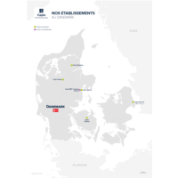 Carte Nos établissements au Danemark