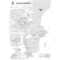 Carte Nos établissements en Suède