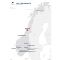 Carte Nos établissements en Norvège