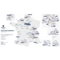 Carte Nos établissements en France