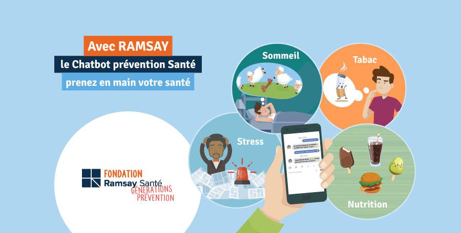 """""""Ramsay"""", le 1er chatbot dédié à la prévention santé, s'enrichit d'une thématique sur le sommeil"""
