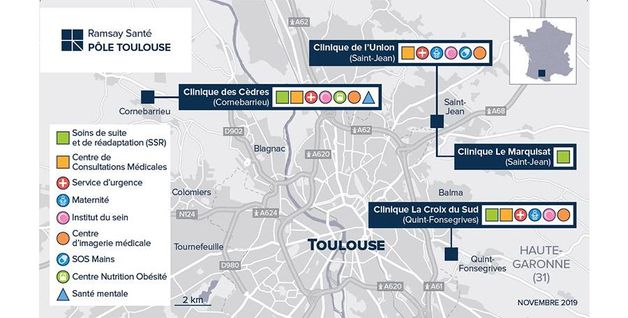 Épidémie Covid-19 - Point de situation Pôle Toulouse Ramsay Santé