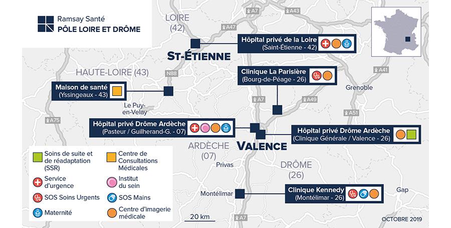 Le pôle Loire & Drôme de Ramsay Santé se réorganise sur le territoire afin d'optimiser les ressources soignantes