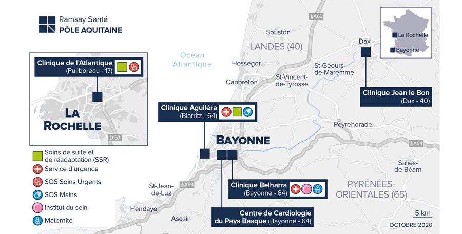 Les établissements du pôle Sud Aquitaine du groupe Ramsay Santé mobilisés face à la reprise épidémique Covid-19